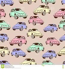 Uitstekend Auto Naadloos Patroon Retro Beeldverhaalachtergrond