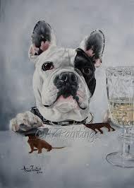 anne zoutsos french bulldog oil painting portrait