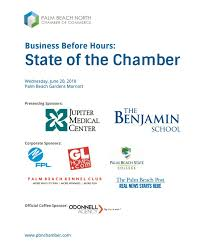 business before hours state of the chamber june 2018 from northern palm beach