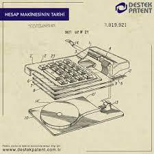 Destek Patent - Mekanik hesap yapma makinelerinin temelini...