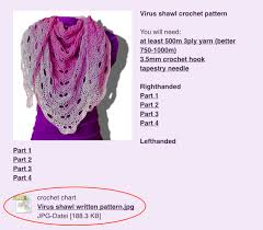Virus Shawl Crochet Pattern