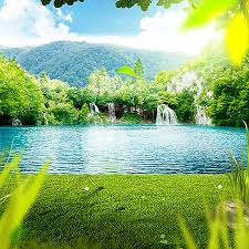 outdoor backgrounds. Perfect Backgrounds Outdoor Background Lake Waterfall Lawn Background Image Throughout Backgrounds U