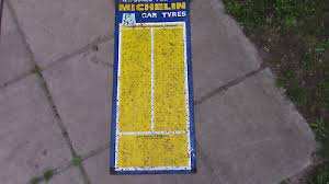 Genuine Vintage Michelin Tyre Pressure Chart Tin Plate For