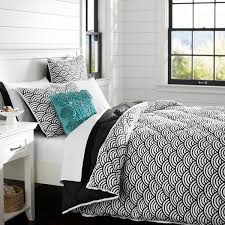 View in gallery Black scallop comforter