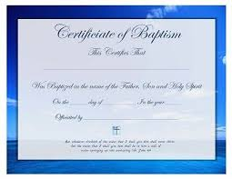 Free Printable Baptism Certificate Template Forms Christian