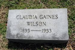 Claudia Gaines Wilson (1895-1953) - Find A Grave Memorial