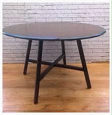 original vintage ercol dark stain drop leaf round table