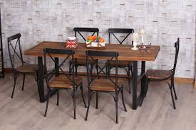 wood and wrought iron furniture. American Restaurants To Do The Old Wood Furniture, Wrought Iron Tables And Chairs Nordic Vintage French Dining Table Combination-in From Furniture F