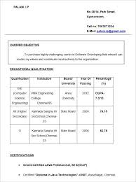 Simple Objective In Resume For Freshers Gentileforda Com