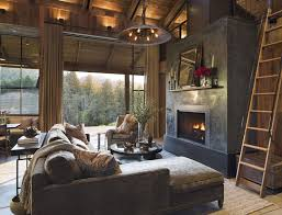 rustic living rooms with fireplaces44 rustic