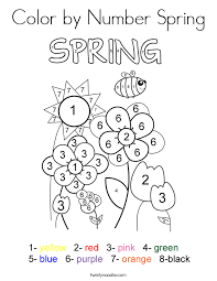 Small Picture Spring Coloring Pages Twisty Noodle