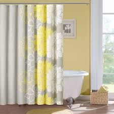 wondrous beautiful white tub and fabulous yellow shower curtain and shower curtain