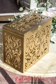 wedding card box lockable gold with lock slot
