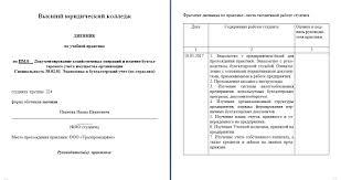 Как правильно оформить отчет по практике Примеры отчетов  Дневник по учебной практике пример