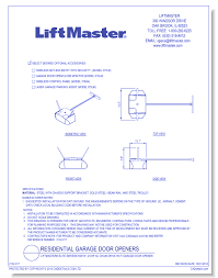 cad drawings liftmaster chamberlain group inc liftmaster elite series 8587w