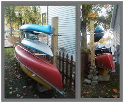 picture of kayak canoe rack wood storage