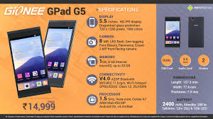 Quick Facts about Gionee GPad G5