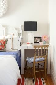 desk in bedroom ideas. Unique Ideas Small Bedroom Decorating Ideas Desks Doing Double Duty As Nightstands   Apartment Therapy And Desk In Ideas