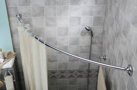 rounded shower curtain rod. Simple Curved Shower Curtain Rod Rounded