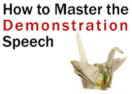 demonstration speech png definition the demonstration speech