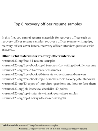 Recovery Officer Sample Resume top10000recoveryofficerresumesamples1006310000jpgcb=1004310065100001000036 1