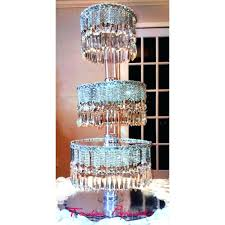 crystal cupcake stand chandeliers