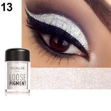 amazon loose pigment stellar color bee gees eyeshadow frost silver eyes makeup eyeliner profecional brush brush woman case exit night drama beauty