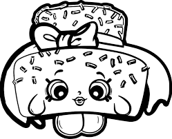 Small Picture Shopkins Cake Coloring Page Wecoloringpage