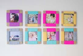 diy colorful cardboard frames
