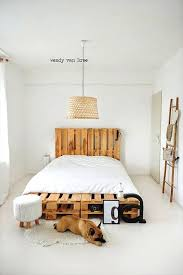 pallet bed wood pallet bed pallet bed construction diy pallet bedside table instructions pallet bed