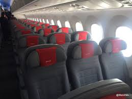 lots and lots of seats in the norwegian 787 9
