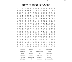 Servsafe Refrigerator Storage Chart Servsafe Puzzle Chapter 4 Word Search Wordmint