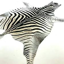 zebra skin rug hide fake uk faux