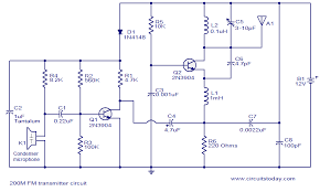 200m fm transmitter electronic circuits and diagram electronics Wiring Schematic Diagram 200m Fm Transmitter Simple Circuit 200m fm transmitter circuit