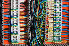 view of colorful electrical wires and cable stock photo colourbox how to wire a house for electricity diagram at Electrical Wiring