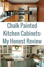 repainting kitchen cabinets chalk painted kitchen cabinets 2 years later o our storied home painting kitchen repainting kitchen cabinets