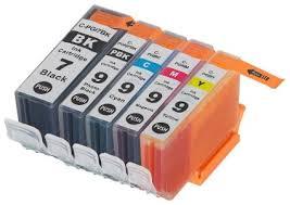 Canon PGI-7 and PGI-9 <b>5</b>-<b>Pack Compatible</b> Ink Cartridges