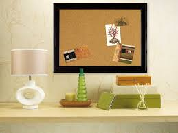 Cork Bulletin Board Quartet Cork Bulletin Board 11 X 17 Inches Black Frame 79279