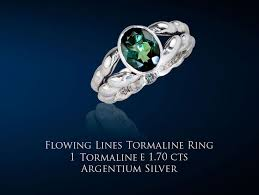 flowing lines tourmaline ring