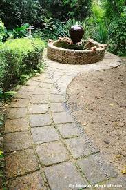 Small Picture Square Paver Garden Path Idea