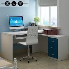 modern minimalist small corner computer desk with under sliding panel two brown bo for storage fresh