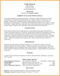 General Labor Resume Template Laborer Sample Job Description
