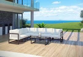 modern outdoor sectional. Fortuna 7-piece Modern Outdoor Sectional Set F