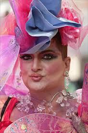 Gay men dressed in drag