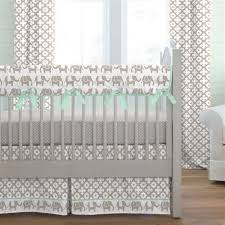 green baby furniture. Taupe And Mint Elephants Crib Bedding Green Baby Furniture A