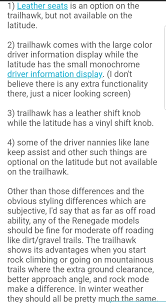 Jeep Comparison Chart Jeep Renegade Questions Whats The Differences Between The