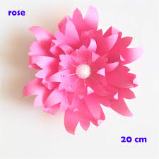 Paper Flower Video 20cm Thick Cardstock Rose Diy Paper Flowers Easy Wedding Event Backdrops Decorations Baby Nursery Wall Decor Video Tutorials