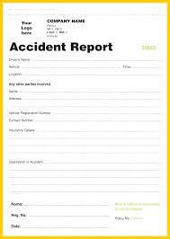 Free Incident Report Template Workplace Incident Report Form