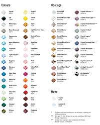 Swarovski Crystal Color Chart Actual Rhinestones 40 Exhaustive Preciosa Color Chart