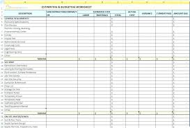 Home Renovation Spreadsheet For Costs Home Improvement Cost Estimator